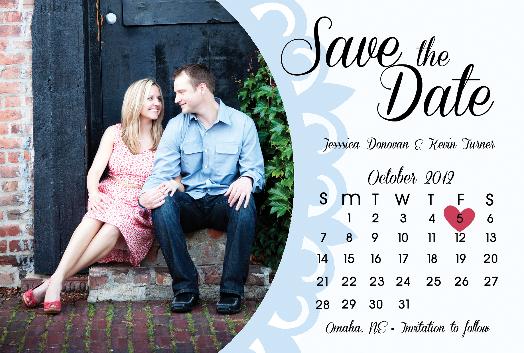 carved initials save the date save the dates